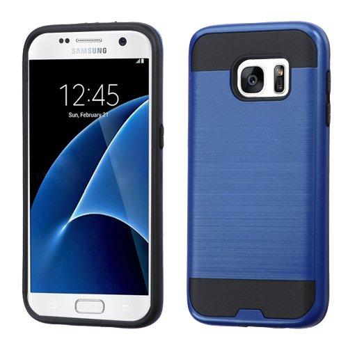 Asmyna Funda para Samsung Galaxy S7 G930 (No Edge) Doble Case de Uso Rudo (Azul)