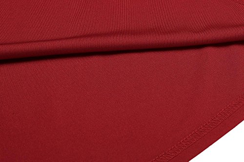 for Girls Women's Casual Dress Midi for dozenla Dresses Short Red Bodycon Dress Sleeve Dress Women Long Maxi OIqw8nxF1n