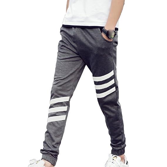 hibote Hombre Pantalones Jogging Slim fit Pantalones Deportivos ...