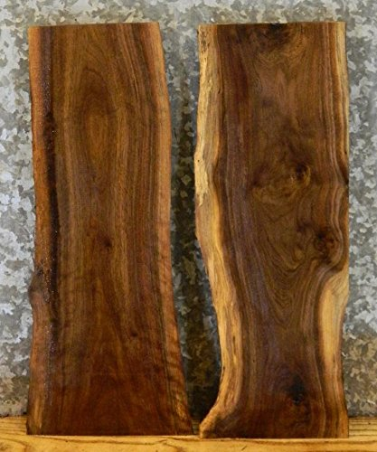 2- Reclaimed Partial Natural Edge Black Walnut Taxidermy Base Slabs T: 1 1/8'', W: 9 15/16'', L: 24'' - 7803,7826 by The Lumber Shack