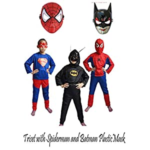 Fancydresswale Superhero,Super boy,Bat-boy Triset for...