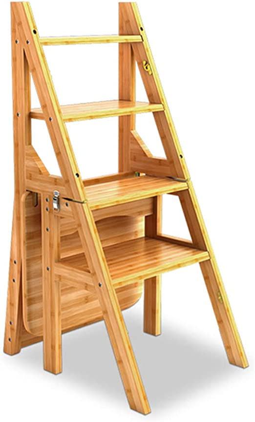 4 Transformación de la Banda de Rodadura Pliegue hacia atrás Escalera de Tijera Respaldo Taburete Escalera de Madera Escalera Alta Herramienta de jardín para el hogar Heavy Duty Máx. 150kg 40x39x90cm: Amazon.es: