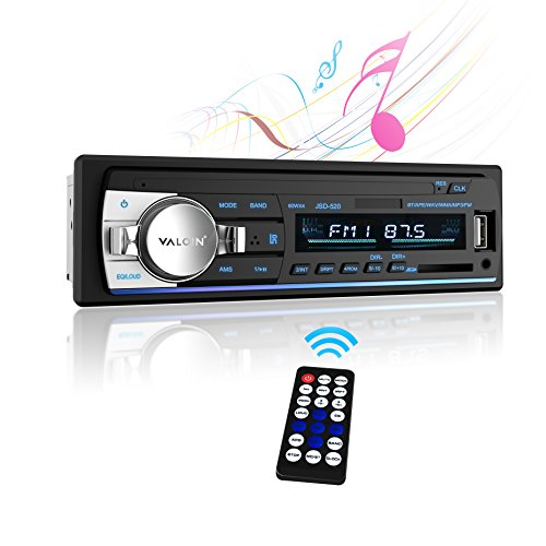 Car Stereo with Bluetooth,Valoin In-Dash Single Din Car Stereo Receiver, MP3 Playback/AUX/USB/SD Card/FM Car Stereo Audio with Remote Control (Black-A)