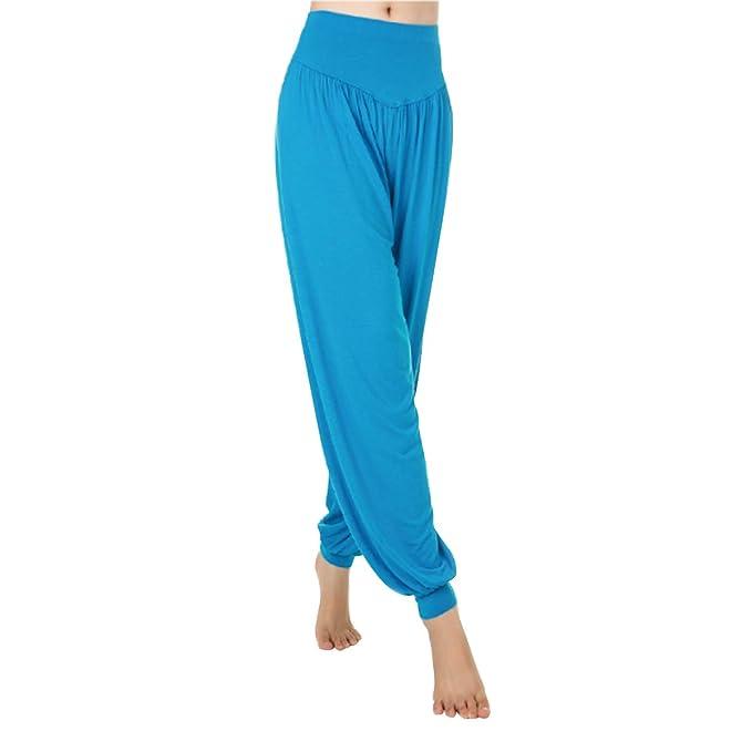 4df2c7cad Aivtalk - Pantalones de Yoga Algodón Modal de Pretina Elástico Pantalones  Bombachos de Fitness para Mujer Unisex  Amazon.es  Ropa y accesorios