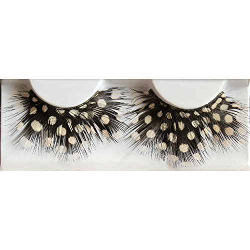 Spritech(TM) New Fancy Feather False Eyelashes for Halloween Party Carnival Artistic Photo Dance Costume (Artistic Dance And Costumes)