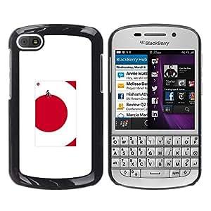 Be Good Phone Accessory // Dura Cáscara cubierta Protectora Caso Carcasa Funda de Protección para BlackBerry Q10 // red dot cube