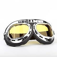 Yiwa Vintage Style Motorcycle Goggles Motorbike Flying Scooter Aviator Helmet Glasses
