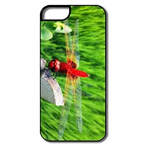 PTCY IPhone 5/5s Make Your Own Funny Red Dragonfly