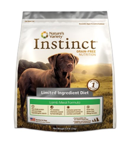Instinct Grain-Free Lamb Meal Formula Limited Ingredient Diet Dry Dog Food by Nature's Variety, 4.4-Pound Bag, My Pet Supplies