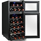 AKDY 21 Bottles Dual Zone Thermoelectric Freestanding Electric Wine Cooler Cellar w/ LED Lights review