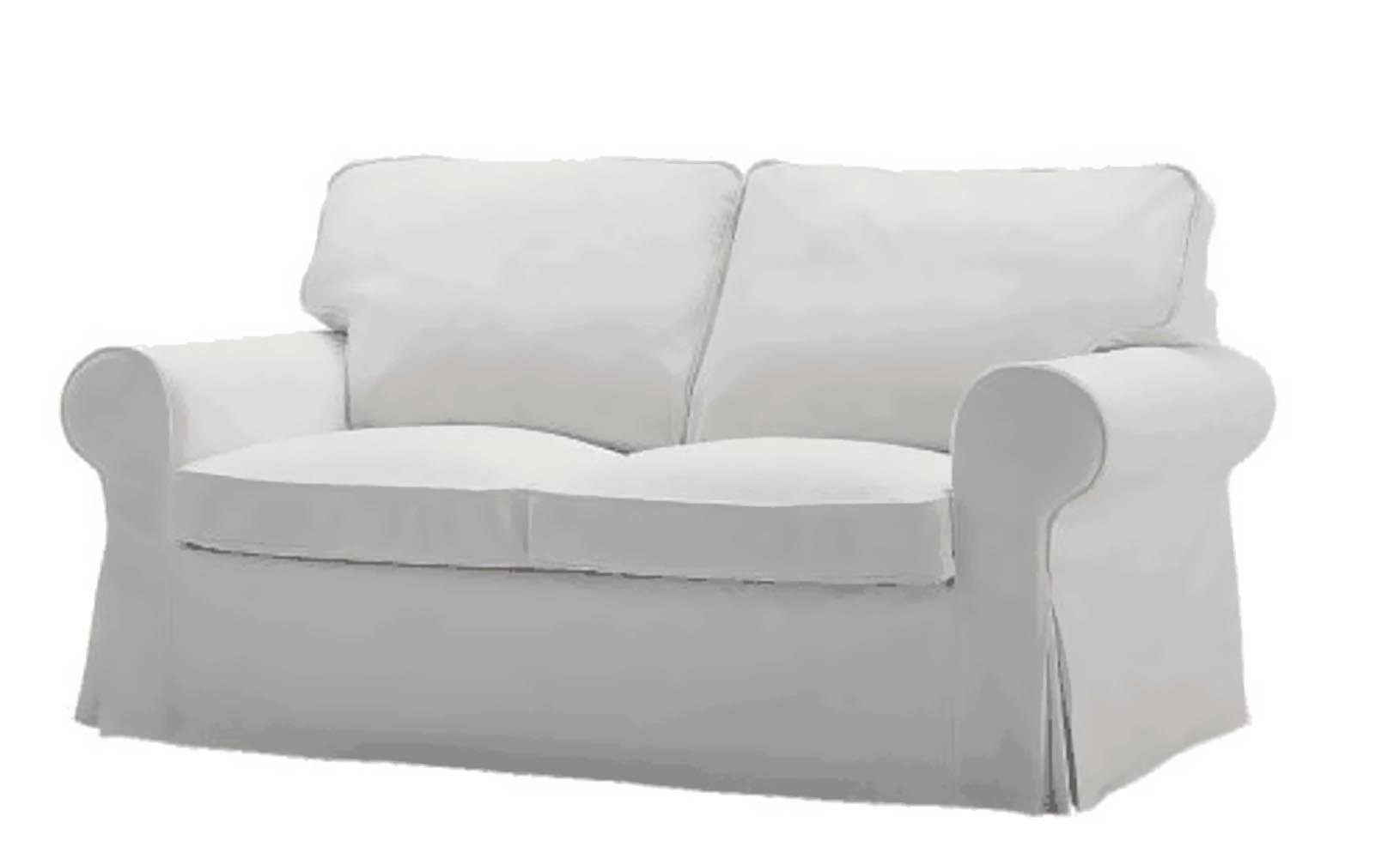 The Ektorp Two Seater Sofa Bed Cover (Durable Heavy Cotton) Replacement IS Custom Made For Ikea Ektorp 2 Seater Sleeper, Multi Color Slipcover Options (White) by Custom Slipcover Replacement