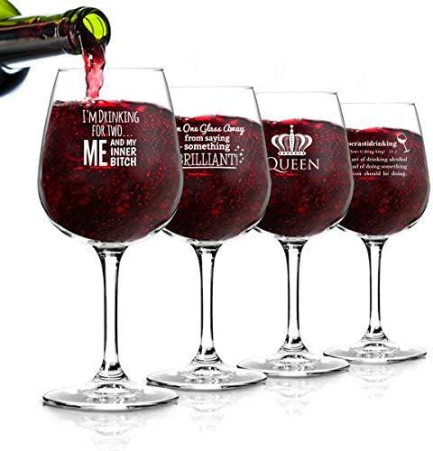 Glasses Novelty Glassware Hosting Sayings