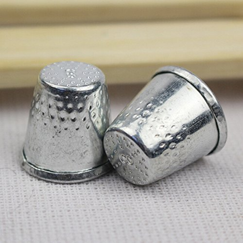 Ioffersuper 10 Dressmakers Vintage Metal Finger Thimble Protector Sewing Neddle Shield