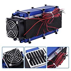 Walfront Mini Air Conditioner,DC 12V 576W 8-Chip TEC1-12706 DIY Thermoelectric Cooler Air Cooling Device        Specification: Voltage: DC12 V Power: maximum power 576W (8 chip) 15.4 V Maximum current: 48A Stable current: 34A Size: 200...