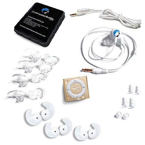 (Gold) Swimbuds SPORT and Underwater Audio Waterproof iPod - Nano Bundle Accessory Ipod Apple