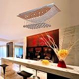 LightInTheBox Chandelier Modern Luxury Crystal Bulb Included 8 Lights, Modern Home Ceiling Light Fixture Flush Mount, Pendant Light Chandeliers Lighting