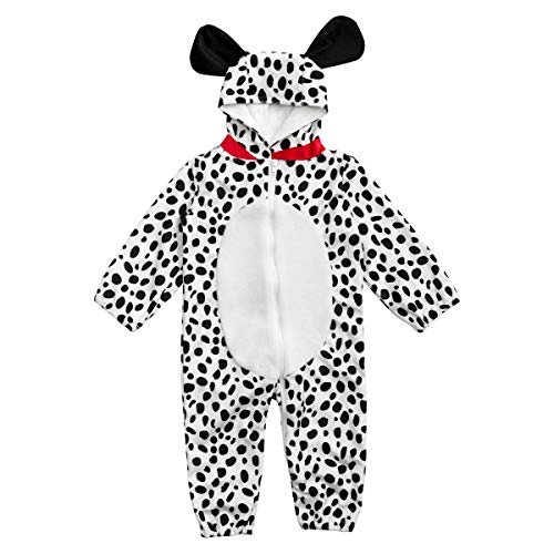 HollyHOME Baby Romper Dalmatian Puppy OneSize for Kids One Piece Dog Sleeping Wear Cosplay Costume for ()