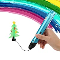 3D Pen BAISILI 3D Printing Pen for Kids, Teens Gifts and Toys for Boys & Girls, for Doodling, Art, Education, No Mess, Non-Toxic. (Blue)