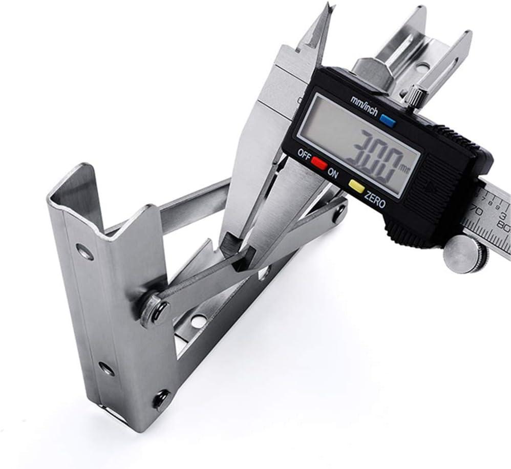 GSKA 2/× Support D/'/étag/ères Pliant Type K Acier Inoxydable Supports D/étag/ère avec Vis 200//250//300//350//400//450//500mm Charge Maximale 100kg Lot De 2(Gris)