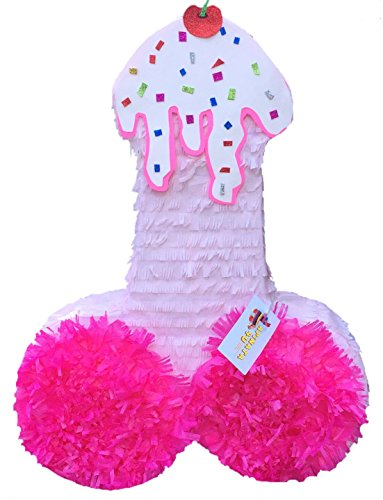 APINATA4U Pecker Pinata Strawberry Ice Cream Look Adult Gag Gift by APINATA4U