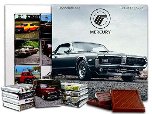 Mercury Montego Villager (DA CHOCOLATE Candy Souvenir MERCURY Chocolate Gift Set 5x5in 1 box (Gray))
