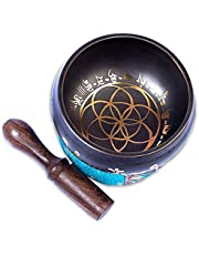 Tibetan Singing bowl Set - Easy To Play Powerful Authentic Handcrafted For Mindfulness Meditation Sound Chakra Holistic Healing By Himalayan Bazaar
