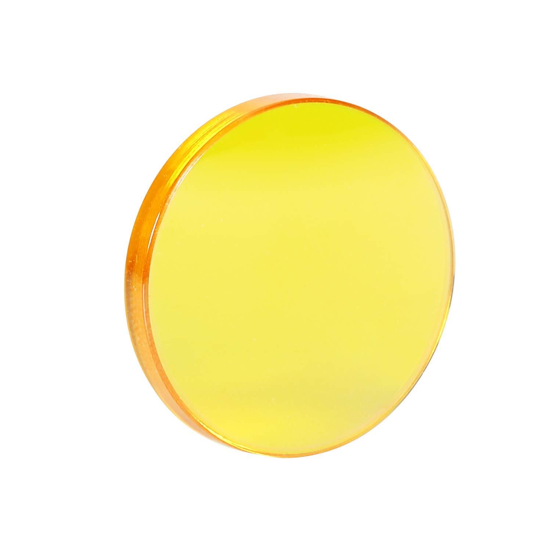 TEN-HIGH Lentille Focale ZnSe,Le miroir de focalisation pour la machine de marquage et Graveurau Laser laser CO2 Coupe Diam/ètre 20 mm,Epaisseur 2mm,Longueur Focale50.8mm