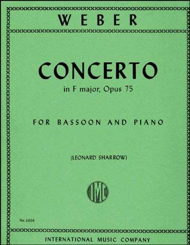 Concerto in F Major, Op. 75 for bassoon (IMC3006)