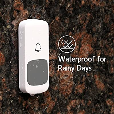 Wifzu Wireless Doorbell with 2 Remote Button and 2 Plugin Receivers