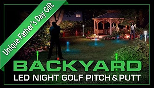 Night Sports USA Backyard LED Night Golf Pitch and Putt Set -