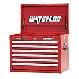 Waterloo Professional Series 6-Drawer Tool Chest with Internal Tubular Keyed Locking System, Red Finish, 26'' W