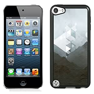 NEW Unique Custom Designed iPod Touch 5 Phone Case With Abstract Grid Mountain_Black Phone Case