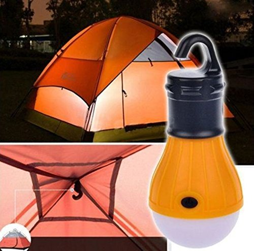 1-Pc Rousing Fashionable 3Mode Q5 3-LED Lantern Night Light Weather Resistant Emergency Portable Tent Hanging Energy Efficient Fishing Activities Color Yellow