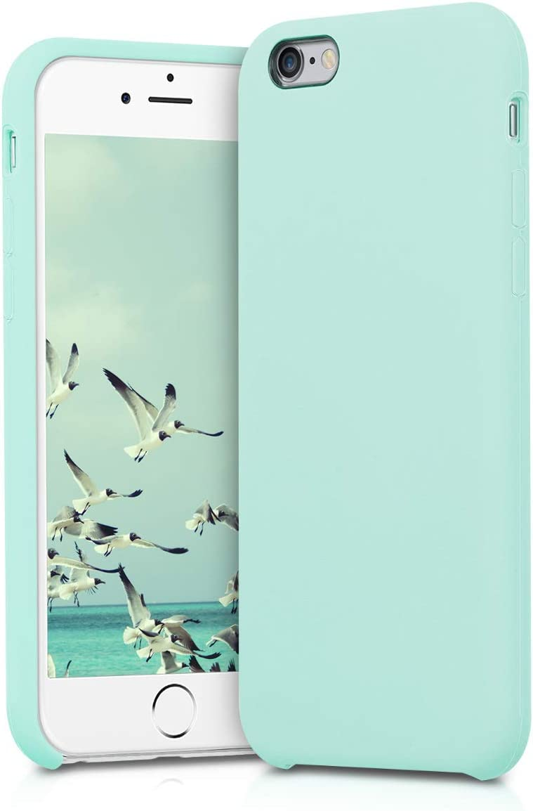 kwmobile TPU Silicone Case Compatible with Apple iPhone 6 / 6S - Soft Flexible Rubber Protective Cover - Mint Matte