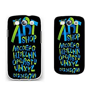 Personalized Protective Phone Case Hard Plastic Mobile Phone Back Case Cover Skin for Samsung Galaxy S3 (green blue monogram BY662)