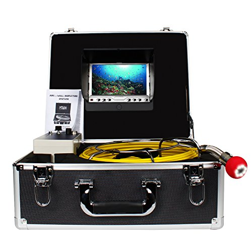Pipe Pipeline Inspection Camera, Drain Sewer Industrial Endoscope Anysun PIC20 Waterproof IP68 Snake Video System with 7 Inch LCD Monitor 1000TVL Sony CCD Camera with 20M Cable ()