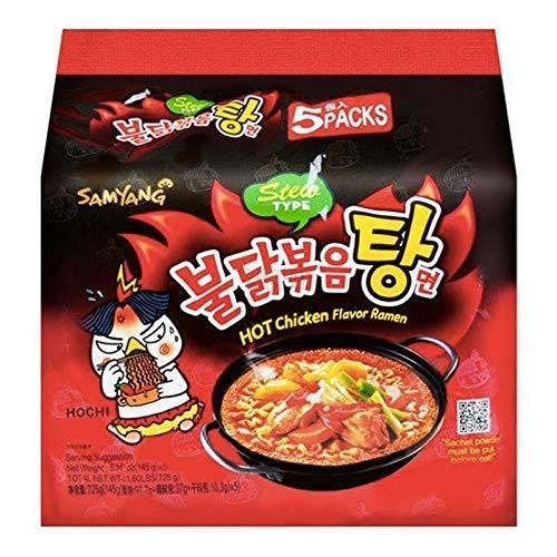 Samyang Stew Type Hot Chicken Flavor Ramen Noodles, Pack of 5