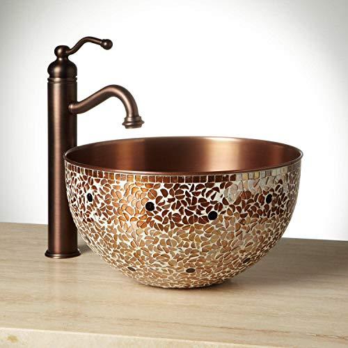 Glass Mosaic Copper Sink - Signature Hardware 244091 Valencia 14