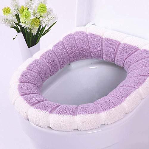 Shiwen Tweekleurige tweekleurige pompoen thermische schattige badkamer heupstoel toilet deksel gewone ademend, 3