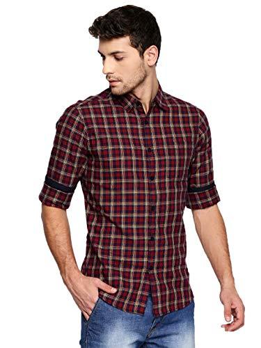 Dennis Lingo Mens Checkered Slim fit Casual Shirt