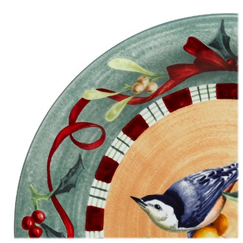 Lenox Winter Greetings Everyday Stoneware Nuthatch Dinner Plate by Lenox