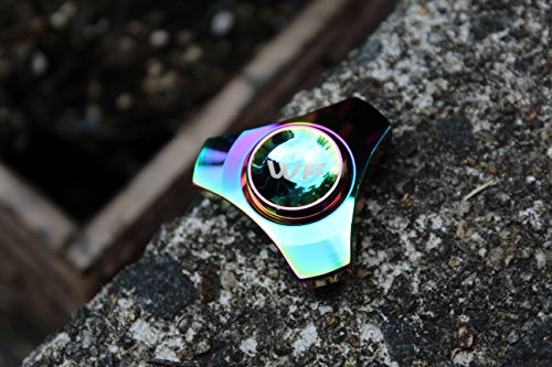 WeFidget ELECTROPLATED Mini Hand Spinner Designs, Insane Spin Times, Super Discrete, Premium Finishes, Replaceable Bearings, Trinity Design, Tin Travel Case Included by WeFidget (Image #4)