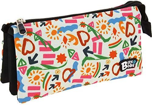 Grafoplás 37545702. Estuche Tres Bolsillos, Modelo Sunny, 22,5x12x14cm, Bits & Bobs: Amazon.es: Oficina y papelería