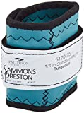 Sammons Preston Cuff Weight, 0.25 lb, Turquoise, Velcro Strap & D-Ring Closure, Grommet for Easy Hanging, Steel Ankle & Wrist Weights are Lead Free, Exercise Tool for Strength Building & Injury Rehab
