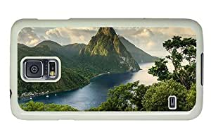 Hipster durable Samsung Galaxy S5 Cases saint lucia landscape PC White for Samsung S5