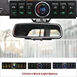 Apollointech Jeep Wrangler JK & JKU 2009-2017 Overhead 6-Switch Pod / Panel with Control and Source System Green Back Light( Comes with 10 Laser Switch Covers )