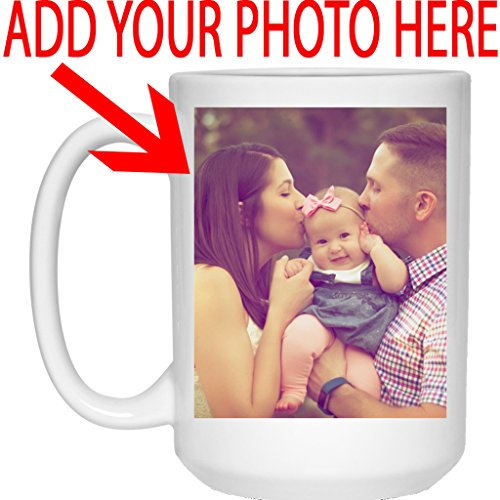 Personalized Coffee Mug for Father Day - Add Your Photo/Logo to Customized Travel, Beer Mug - Great Quality for Gift (White, 15 oz)]()