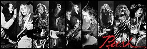 Buyartforless Rush - Black and White 36x12 Poster Music Art Print Band Group