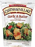 Chatham Village Garlic & Butter Croutons, 5-Ounce Bags (Pack of 12)