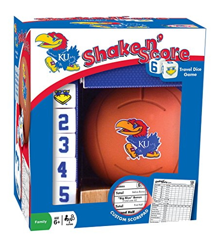 MasterPieces NCAA Kansas Jayhawks Basketball Shake 'n Score Dice Game